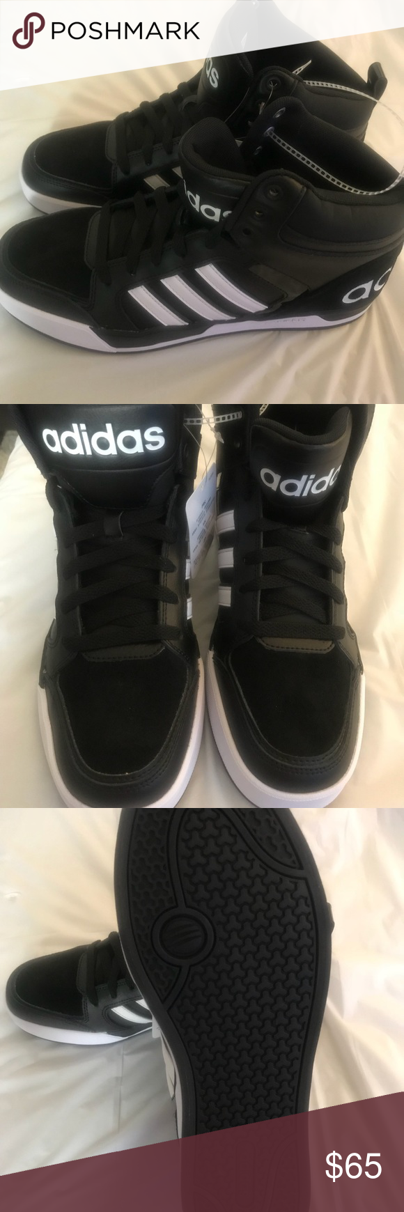 adidas neo - raleigh bianco nero aw5407 uomini dimensioni 9