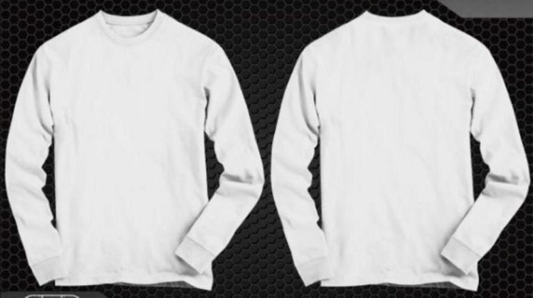 Desain Kaos Polos Depan Belakang Lengan Panjang Kaos Gambar Baju Kaos