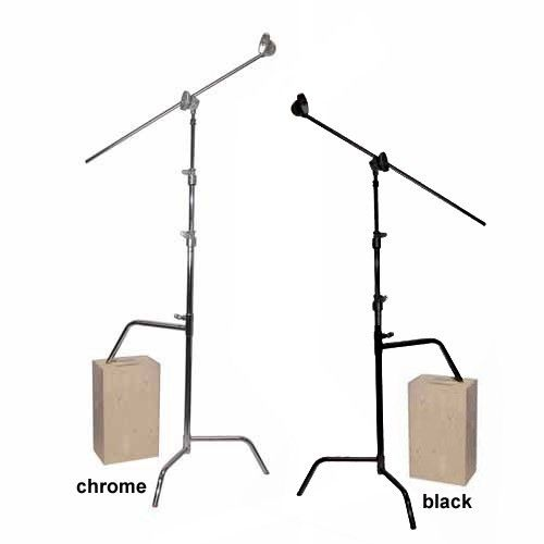 40 Double Riser C-Stand Chrome