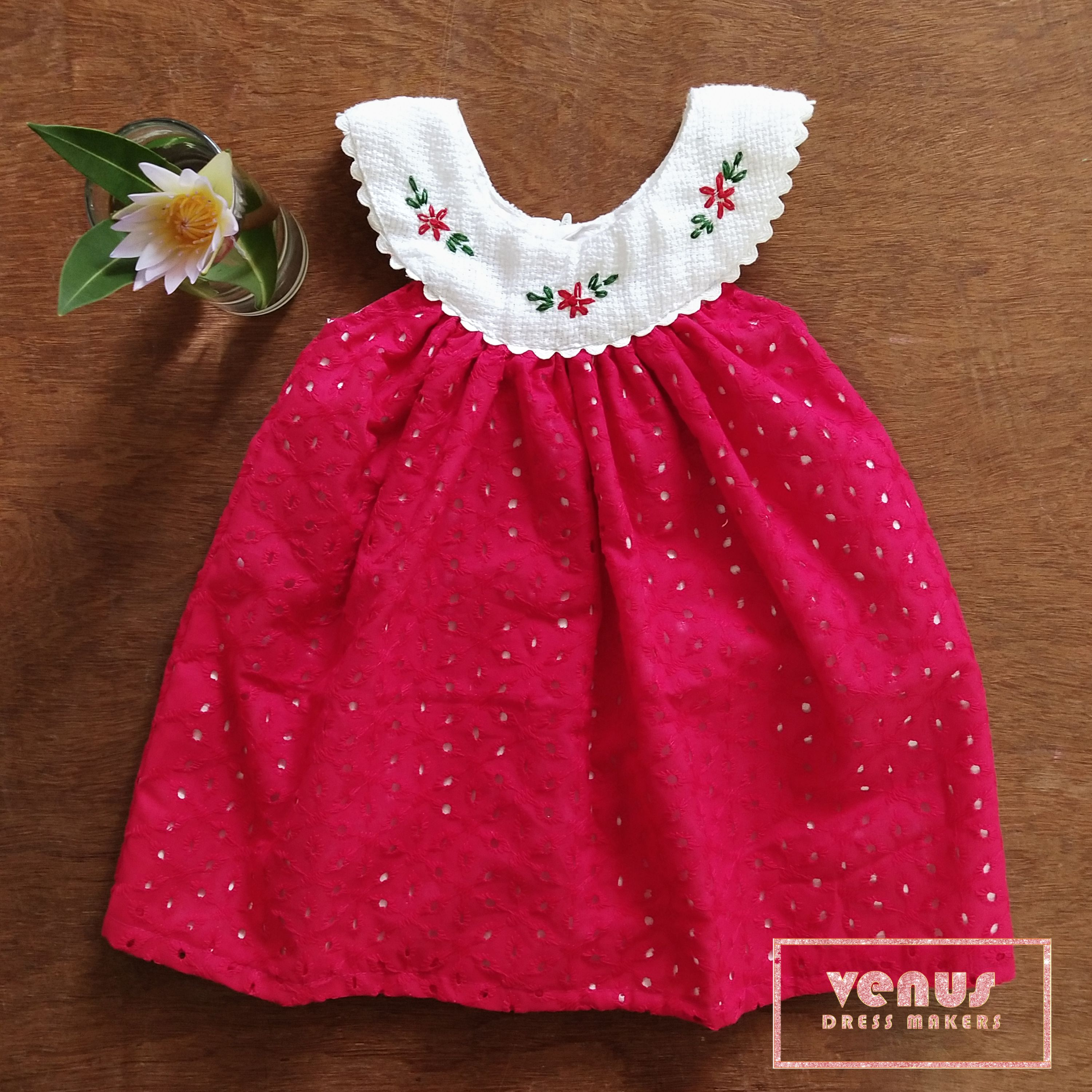 Venus Dress Makers Baby Girls Cotton Hakoba Dress  Girls frock