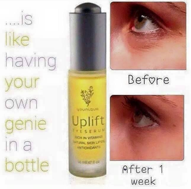 New on market! Younique uplift eye serum that is showing fantastic results. See more on my website.  Return within 14 days  if not completely satisfied.
