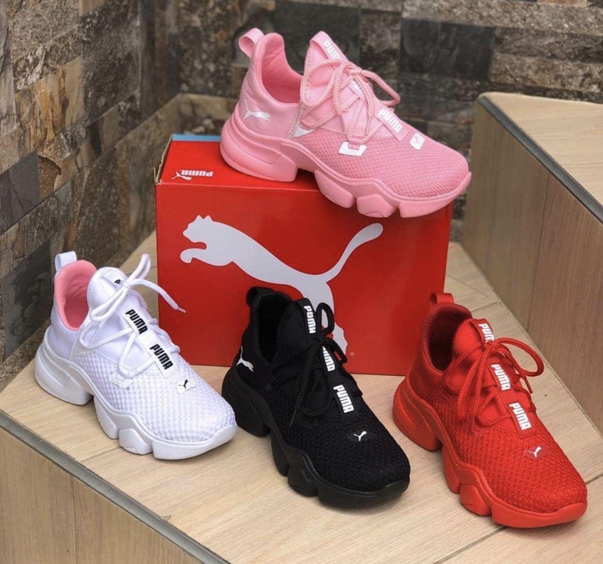 Pink/Black/White/Red Pumas   Red puma