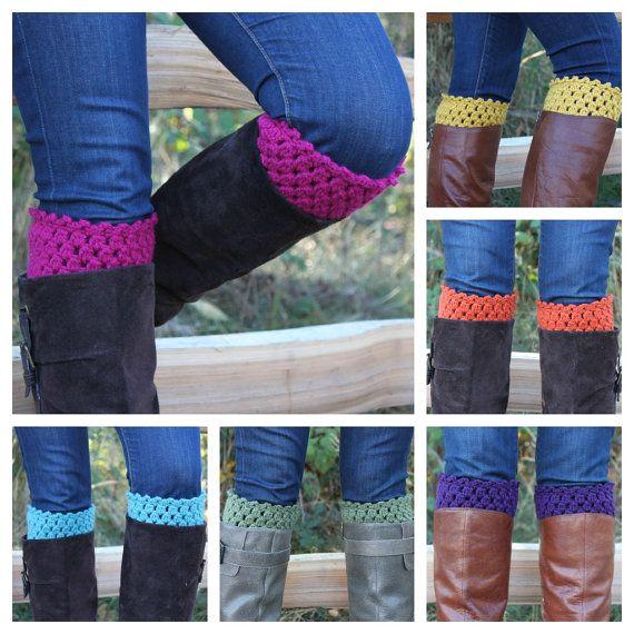 Crochet Boot Cuffs / Boot Toppers by OnTheHook | crochet boot cuffs ...
