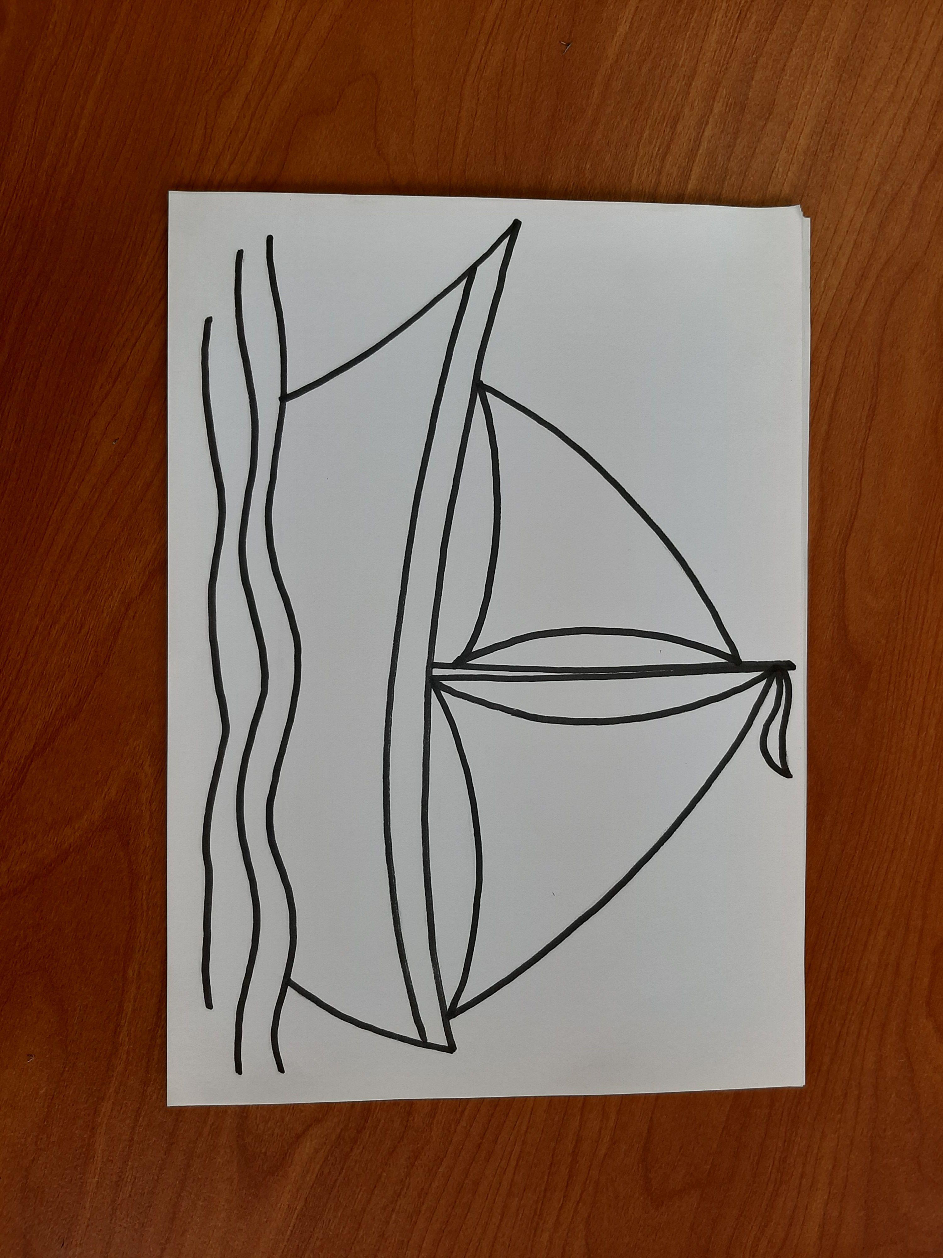 أربع نماذج لرسم قوارب شراعية