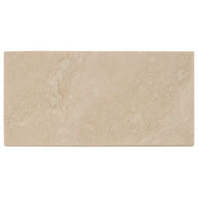 Cote D Azur Brushed Travertine Tile - 3in. x 6in.   Floor and Decor FOR SHOWER WALLS AND NICHES
