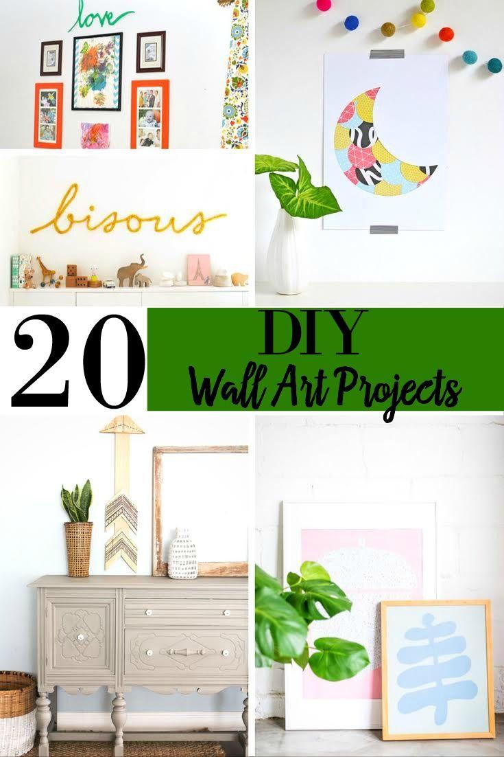 20 Elegant Diy Wall Art Projects Home Decor Wall Ideas Wall Decor Ideas Wall Art Themes How To Decorate Your Walls Diy Wall Art Home Design Decor Diy Decor