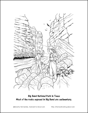 sedimentary rock coloring pages - photo#1