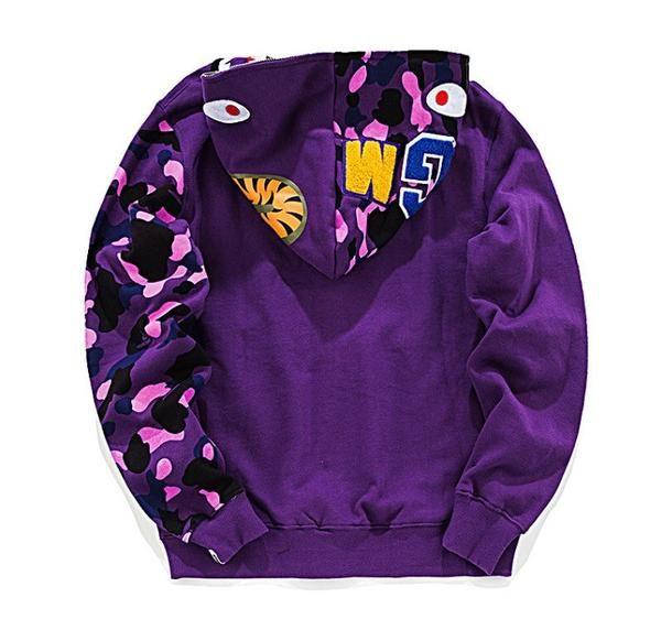 23124477 BAPE Solid Color Camo Hoodie Purple | bathing ape | Camo hoodie ...