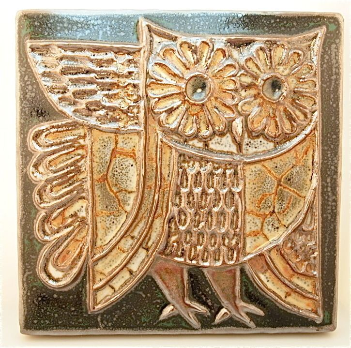 arts & craft ceramic tile | What is it about owls ...