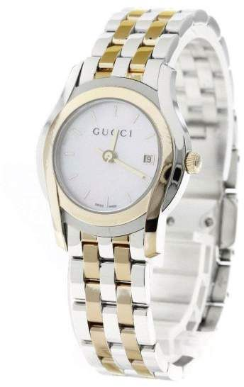 1b5ccd56a09 Gucci 5500L YA055539 Stainless Steel and Gold Plated 27mm Womens Watch