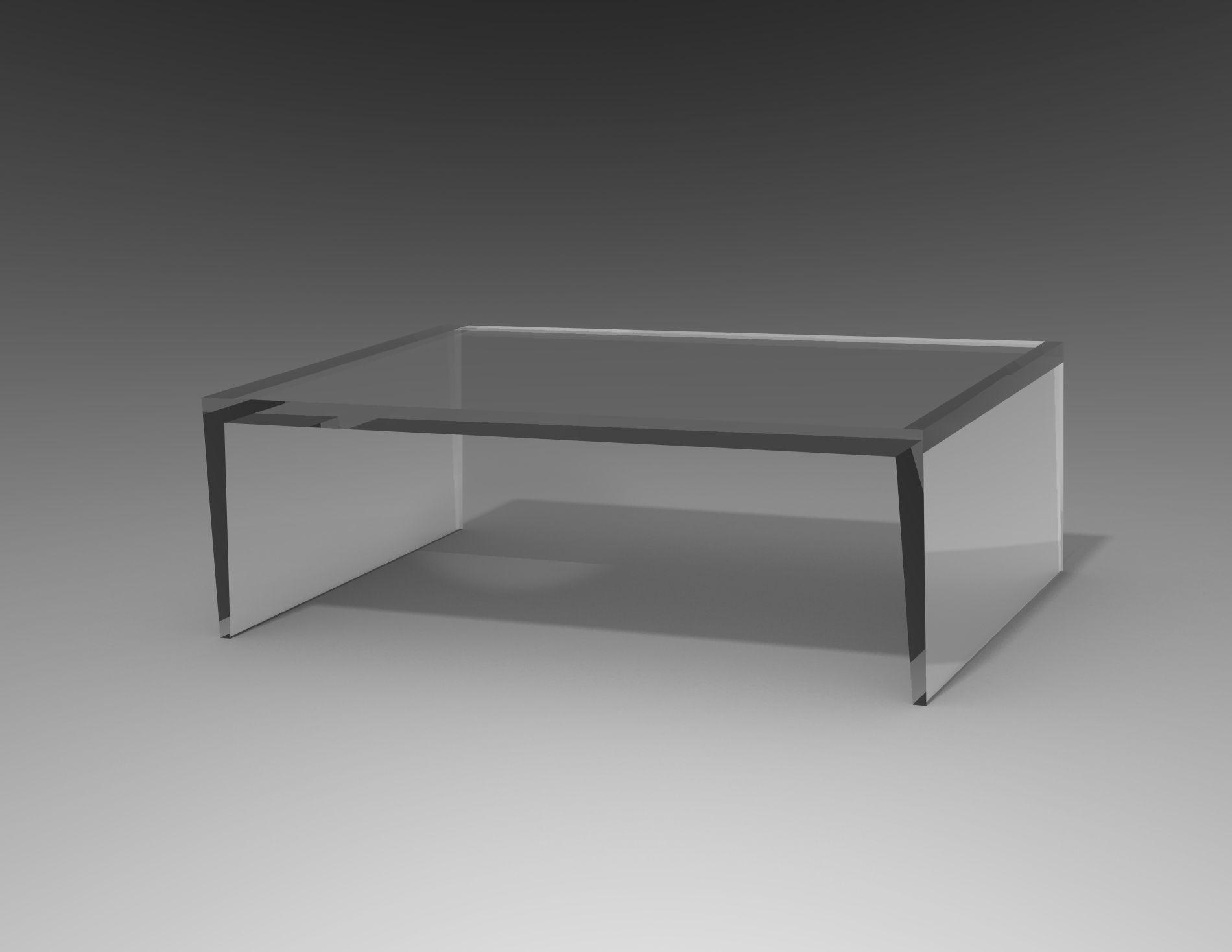 Carewjones Co Uk Razor Coffee Table In 40mm Thick Clear