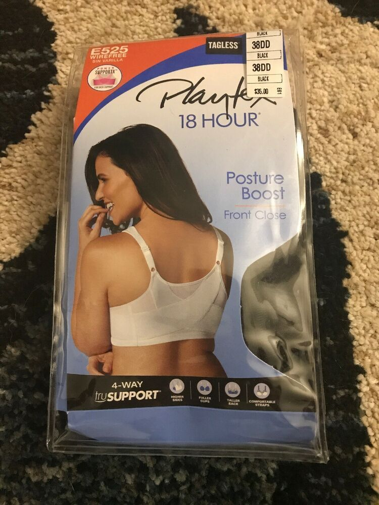f9d38a0db2a Playtex 18 Hour E525 Wirefree Front Closure Posture Boost Black 38DD   fashion  clothing  shoes  accessories  womensclothing  intimatessleep  (ebay link)
