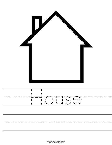 Blank House Worksheet | Theme: Home/Houses | Family ...