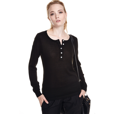 Women Pullover Render Unlined Upper Garment New Female Black Slim Turtleneck Fleece Pullover