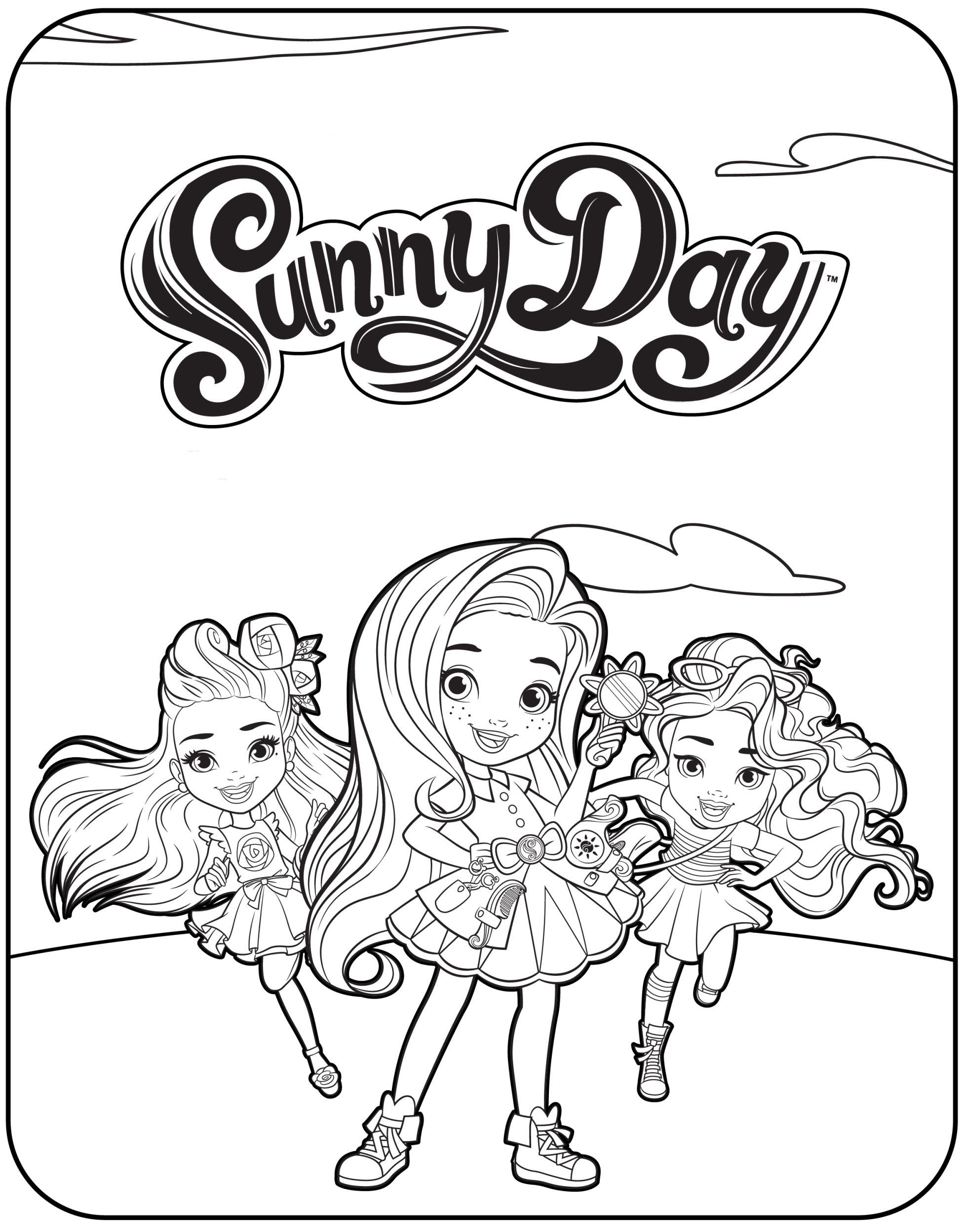 Free Printable Sunny Day Coloring Pages In 2020 Coloring Pages Cartoon Coloring Pages Free Printable Coloring Pages