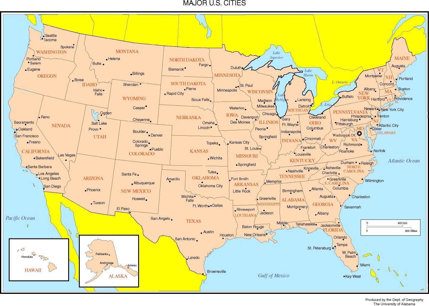 Us States Capitals
