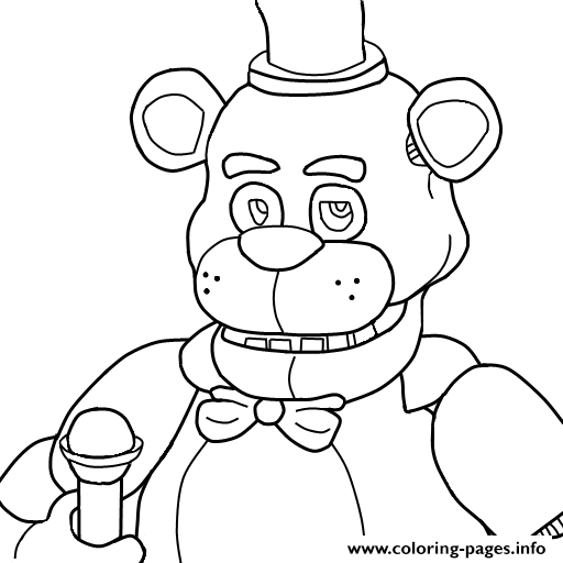 Print Five Nights At Freddys Fnaf Coloring Pages Kaden Pinterest