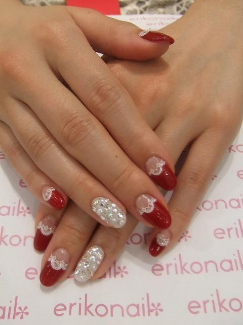 Love this red style by Erikonail | 黒崎えり子 official blog #エリコ ...