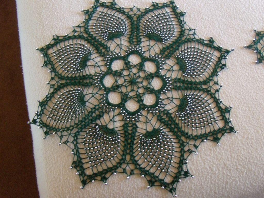 beaded doily crochet