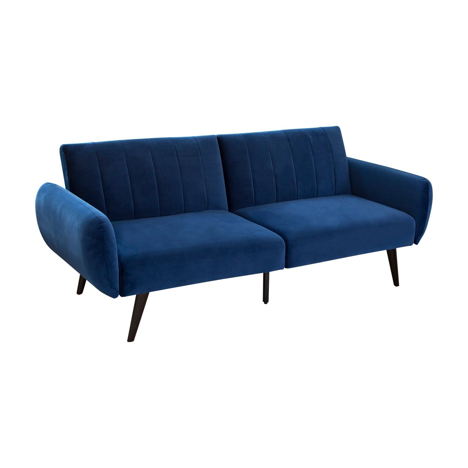 Stupendous Abbyson Living Marvin Foldable Velvet Sofa Blue Products Dailytribune Chair Design For Home Dailytribuneorg