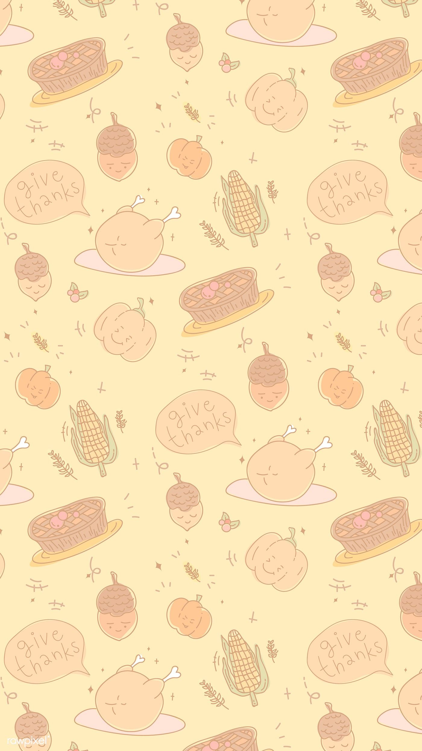 Download Premium Vector Of Thanksgiving Elements Seamless Patterned Mobile Thanksgiving Iphone Wallpaper Thanksgiving Wallpaper Holiday Wallpaper
