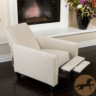 Christopher Knight Home Darvis Light Beige Fabric Recliner Club Chair overstock $198