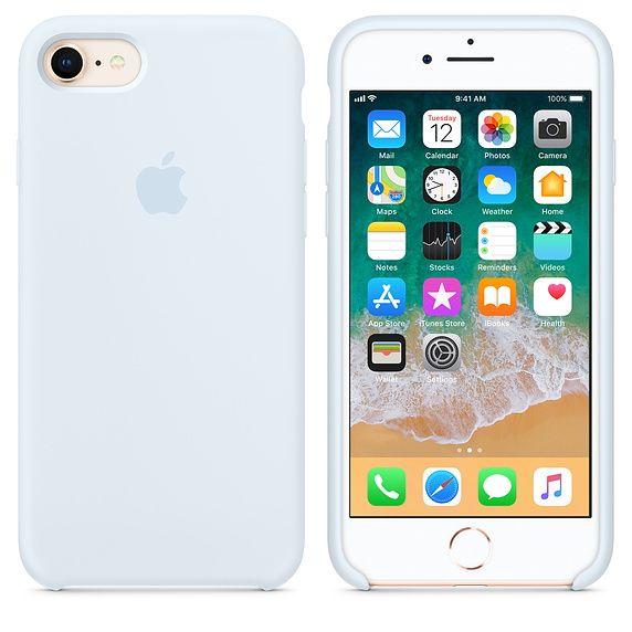 Coque en silicone pour iPhone 8 / 7 - Bleu nuit - Apple (BE ...