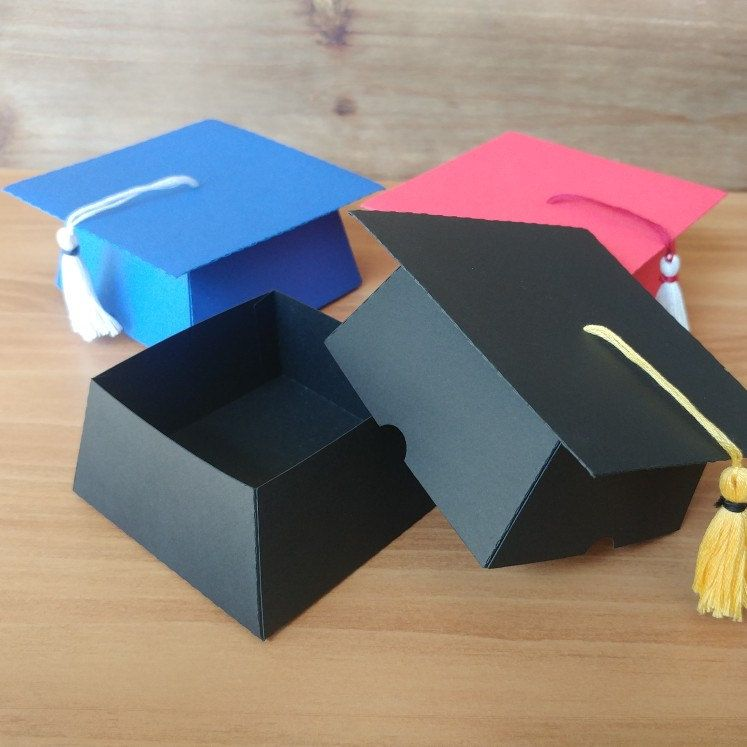 Custom Graduation Cap Favor Box College Graduation High Etsy In 2021 Kindergarten Graduation Party Graduation Diy Graduation Cap Favors