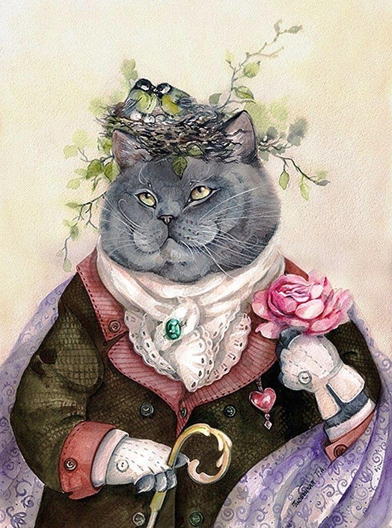 Картинки с прикольными арт котами, открытка для девочки