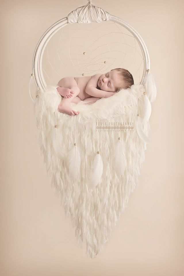 Hand made dreamcatcher Can be used n Newborn photography or hung in room as a hammock for items