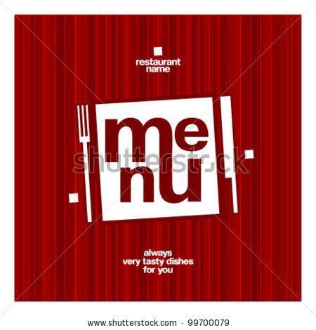Restaurant Menu Card Design template. by Lena Pantiukh, via ShutterStock