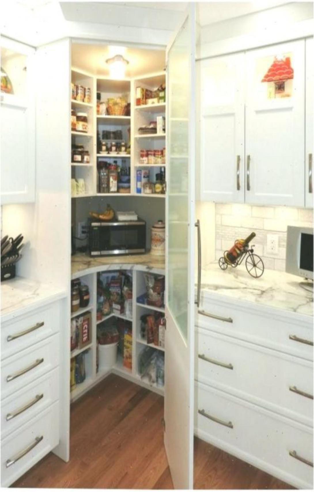 50 Pretty Small Kitchen Design Decor Ideas In 2020 Corner Kitchen Pantry Kitchen Pantry Design Kitchen Plans
