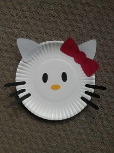 Kids Characters Craft Paper Plate Crafts For Kids Hello Kitty