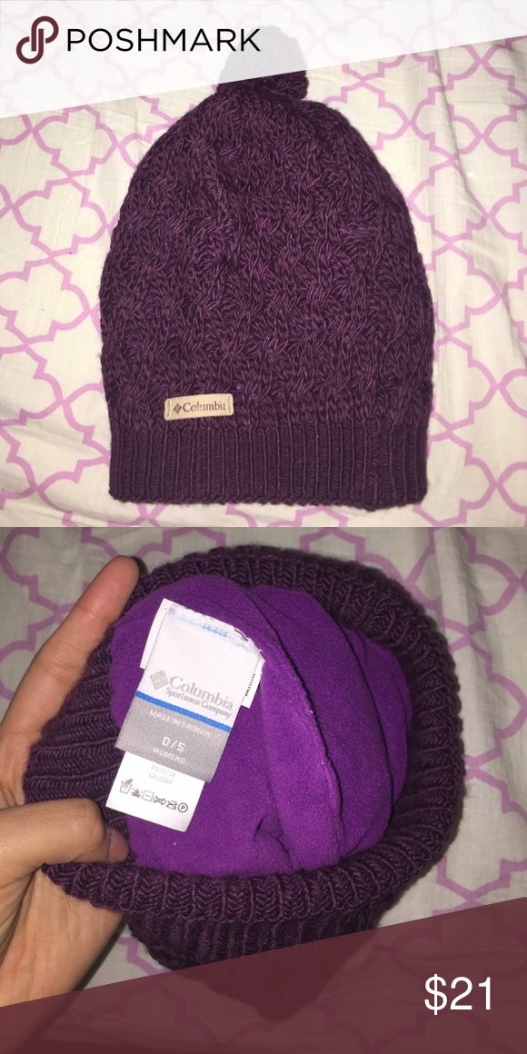 8565c713ab2 Columbia knit beanie NWOT Purple beanie never worn super warm on the  inside! Columbia Accessories Hats
