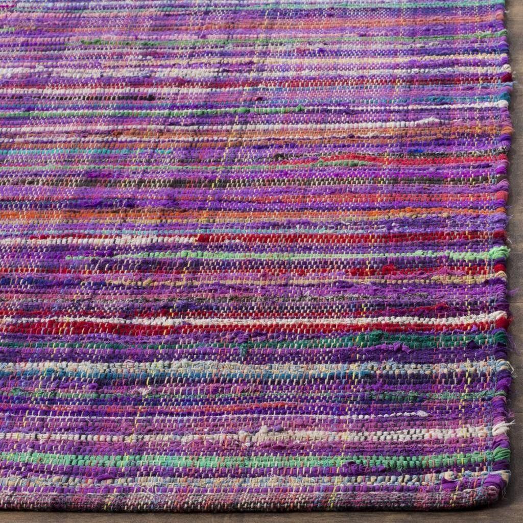 Safavieh Rag Rug Rar240c Purple Multi Rug Rag Rug Handmade Rag Rug Rugs Handmade rag rugs for sale