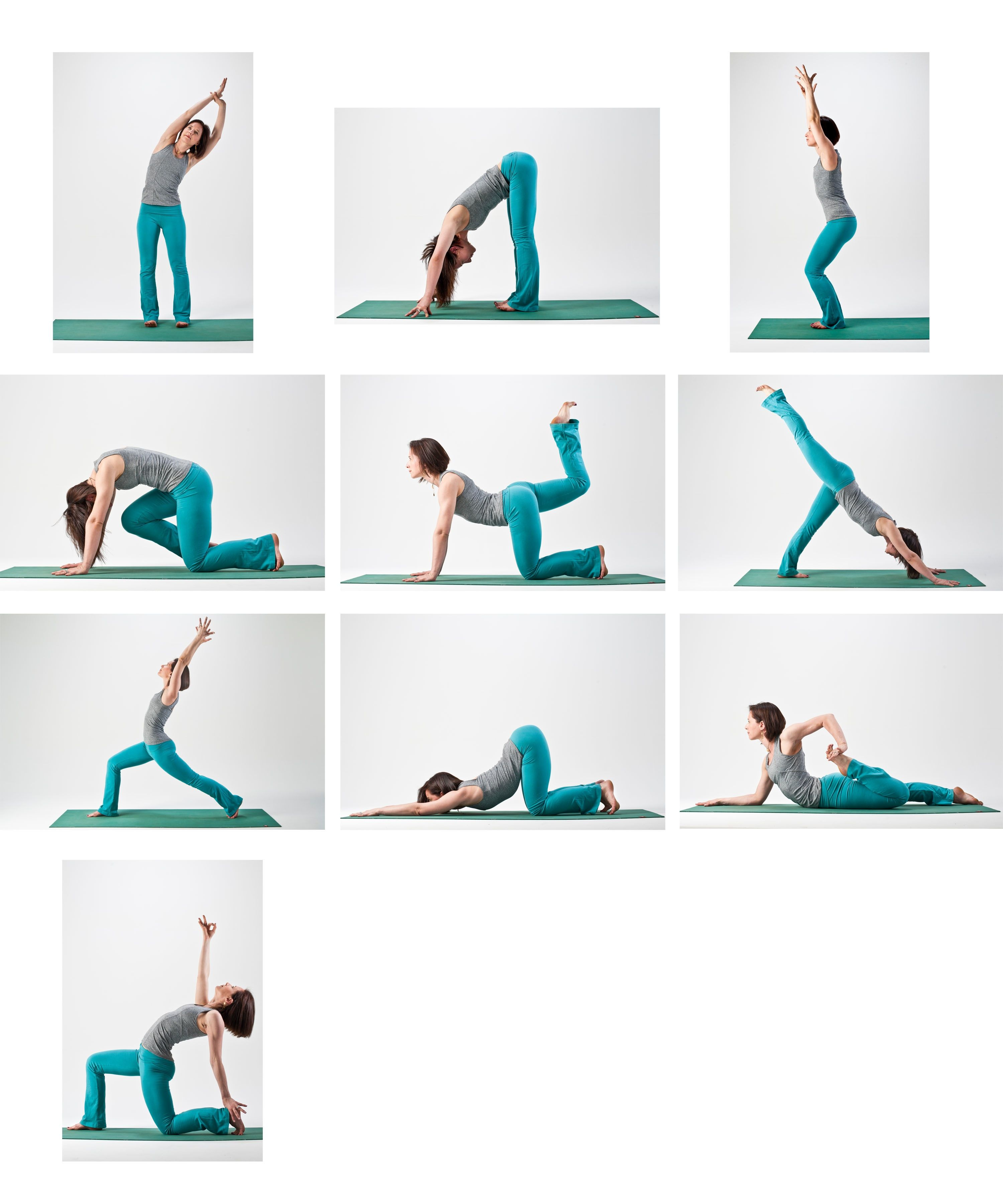 Йога последовательности в картинках