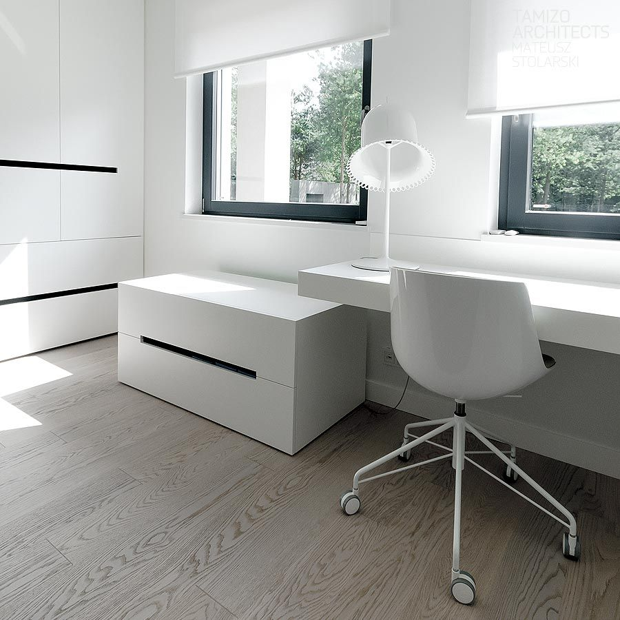 Home Office Design Examples: House Interior Design , Tomaszow Mazowiecki