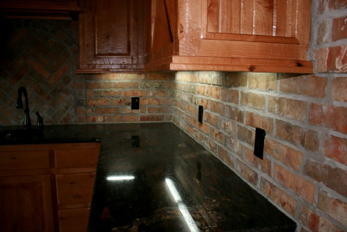 Commercial Brick | Brick kitchen, Brick backsplash, Brick