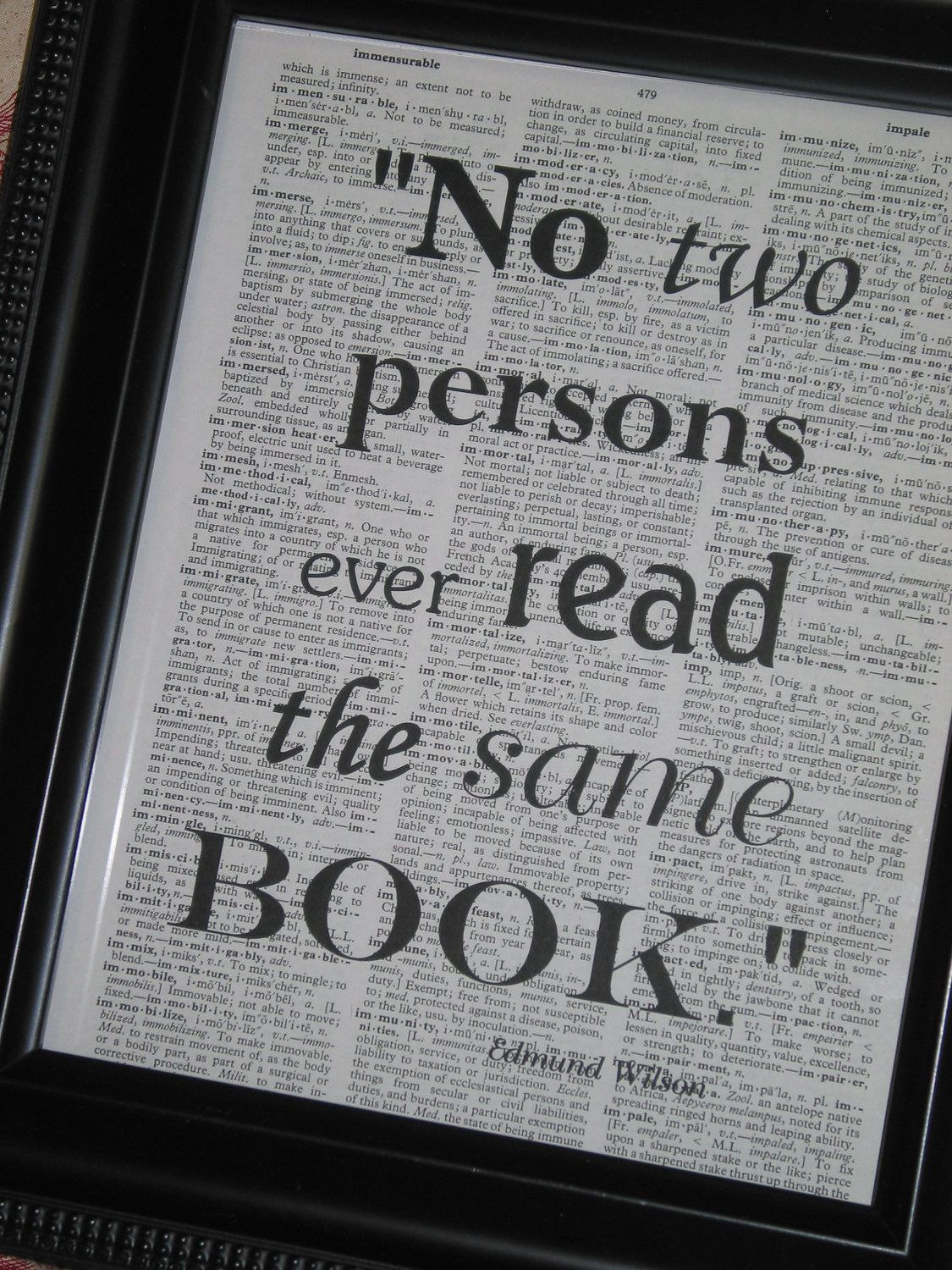 Typography Quote Print Dictionary Art Print Saying Dictionary Book