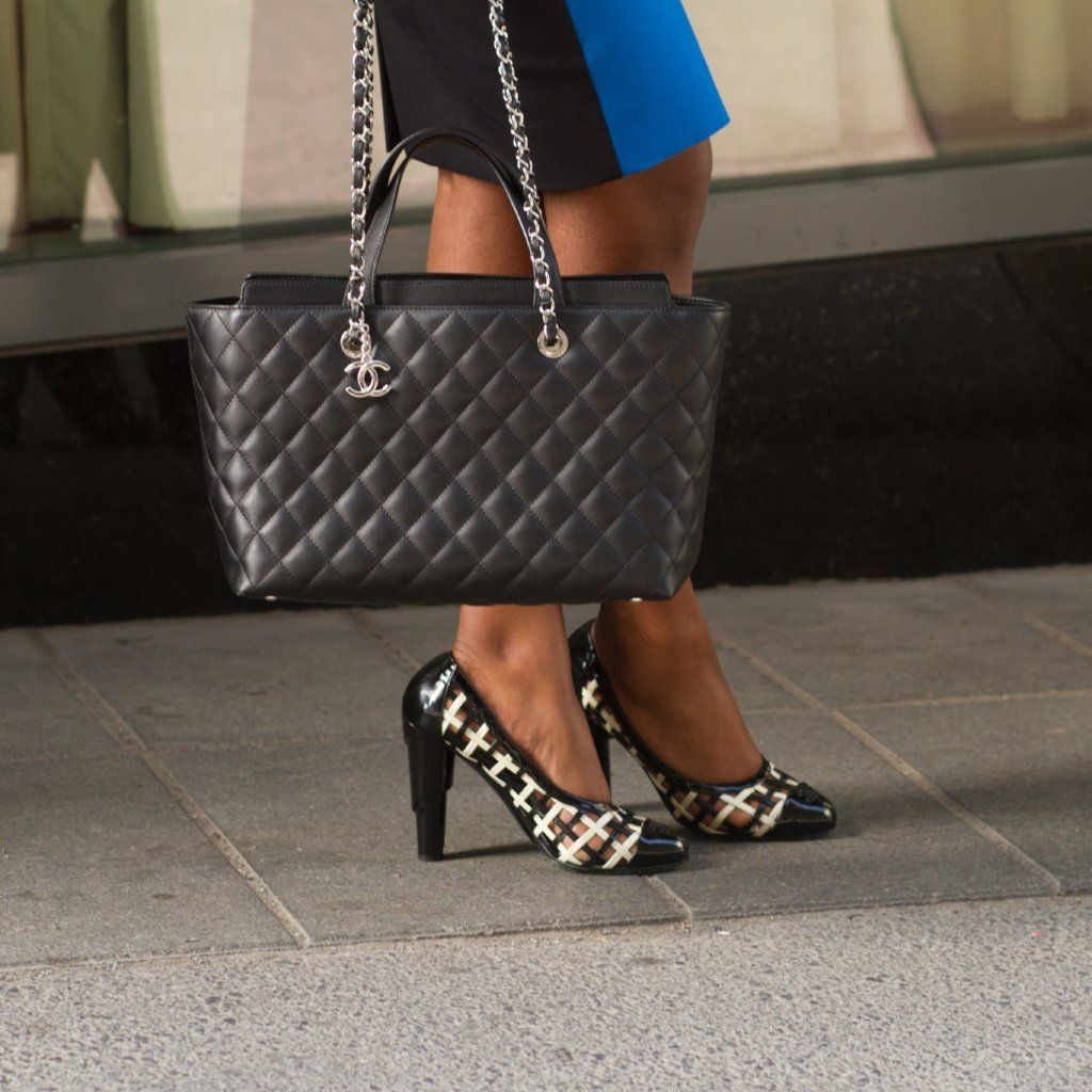 Chanel Black Calfskin Shopping Tote - LOVE that BAG - Preowned Authentic  Designer Handbags bacb4165daca3