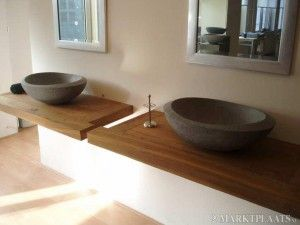houten blad badkamer - Google zoeken  Badkamer  Pinterest  Search ...