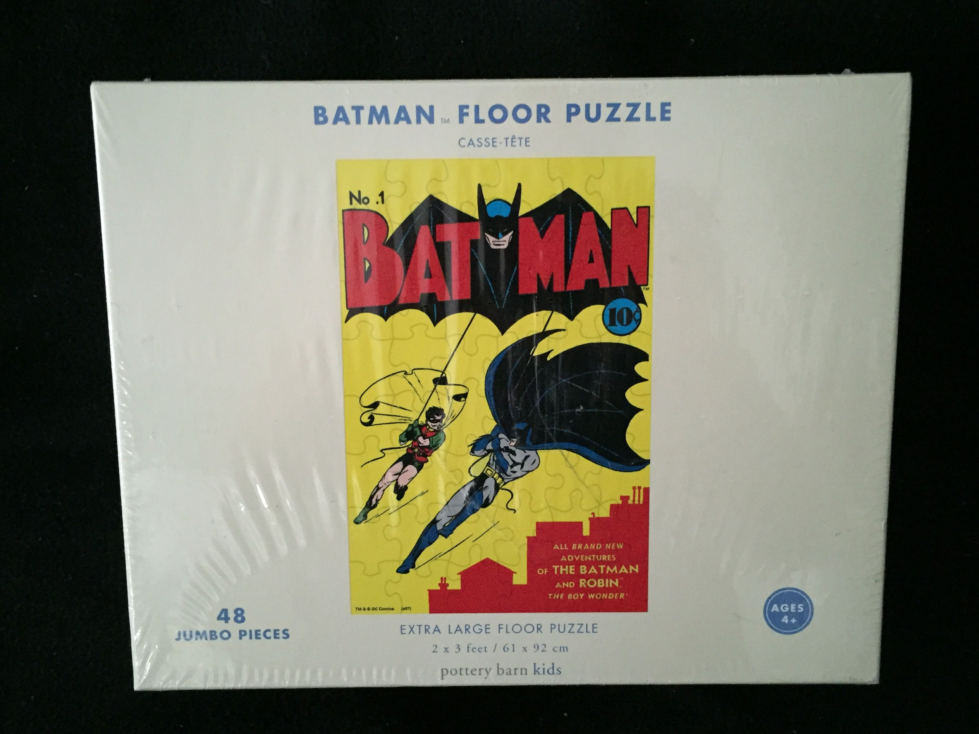 Pottery Barn Kids Batman Floor 48*NEW IN BOX