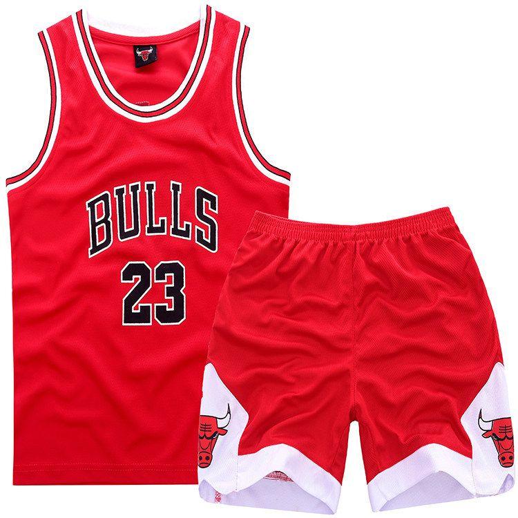 qgxtos NBA Chicago Bulls #23 Michael Jordan Kids Sets (Jersey with shorts