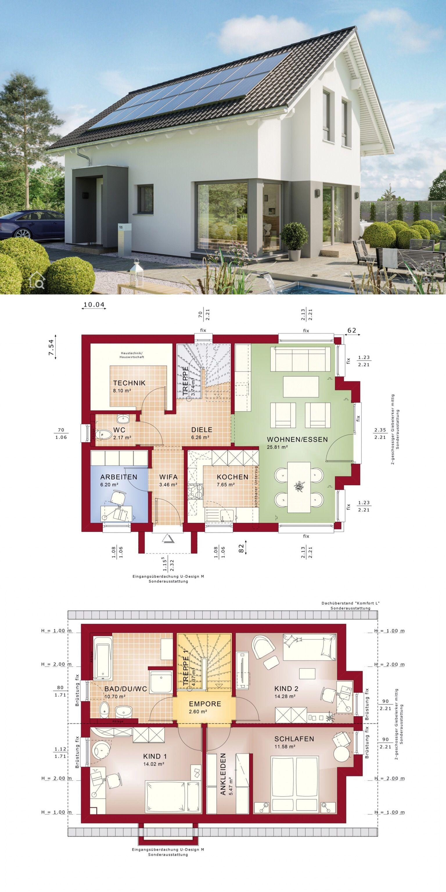 Modernes Einfamilienhaus mit 5 Zimmer Grundriss