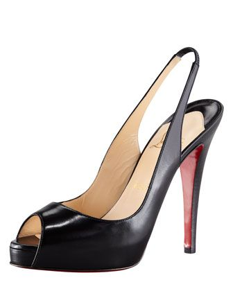 279e5a0dd1c No Prive Leather Slingback Red Sole Pump