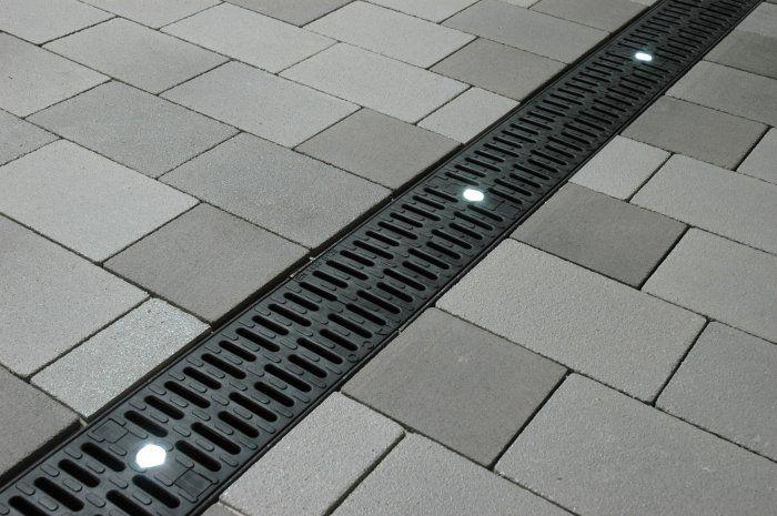 Aco Drain Led Enabled Drainage System Sidewalks