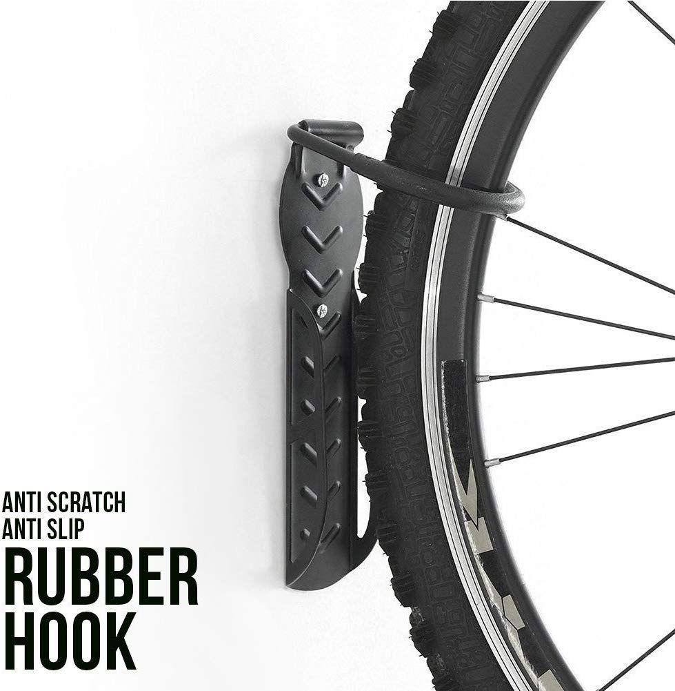 Vertical Wall Mounted Mountable Cycle Storage Hook Bike