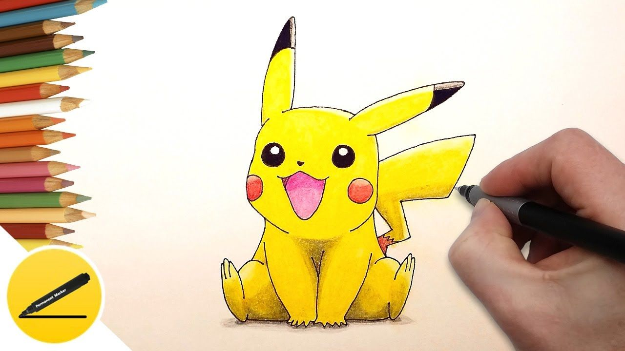 How To Draw Pikachu In This Video I Show How To Draw Pokemon Pikachu From Pokemon Go I Draw Pikachu Step By Step A Pictur Pikachu Pokemon Pokemon Drawings