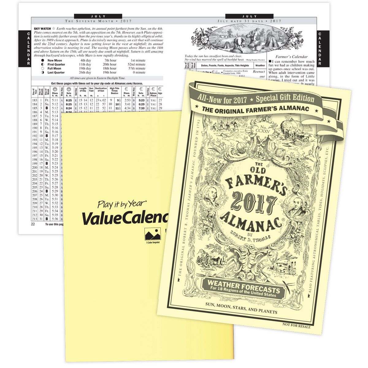 2017 The Old Farmers Almanac Booklet Calendar 5 38 x 8