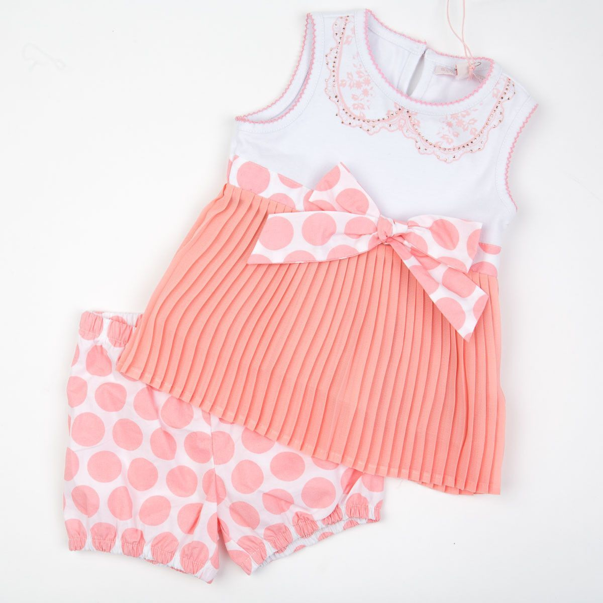 finest selection 8f286 1c900 Silvian Heach Bebe - Baby Girl Dress With Diaper Cover ...